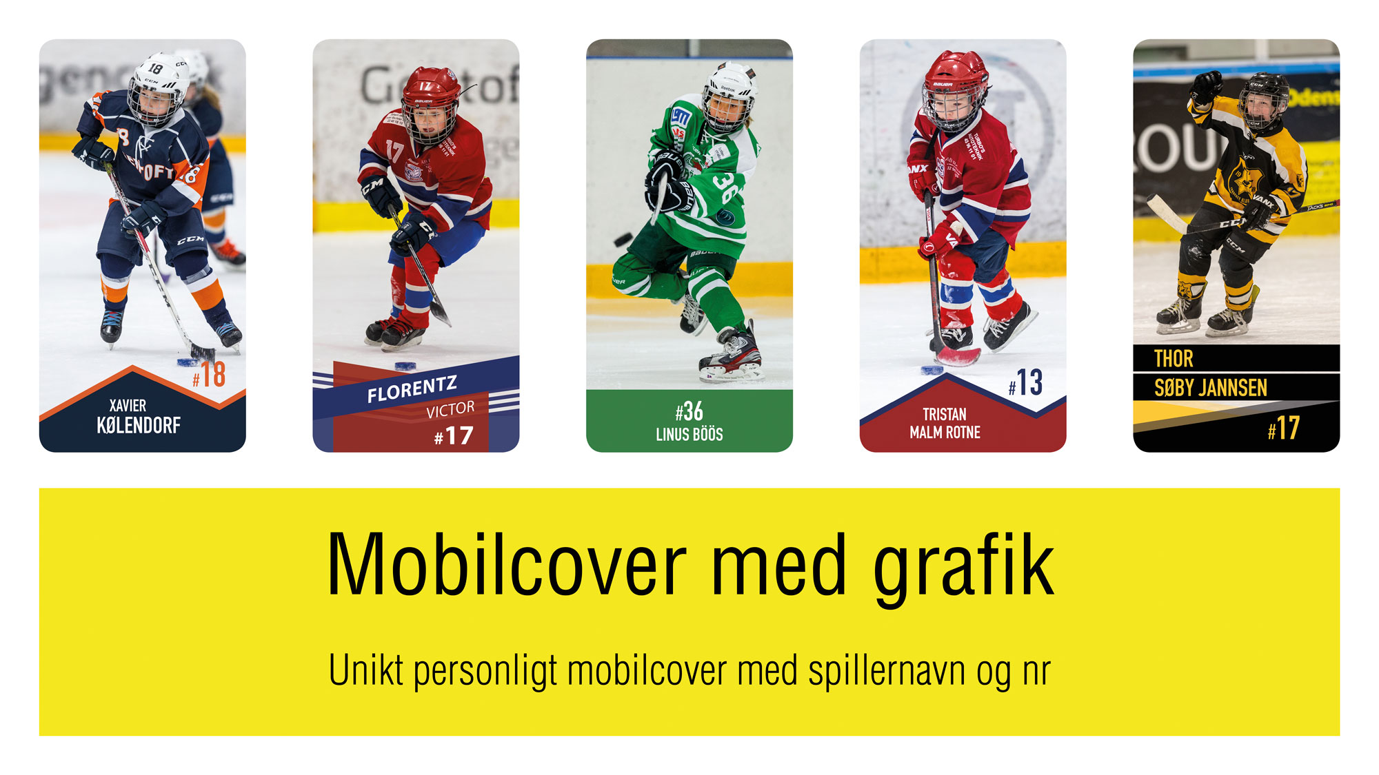 MOBILCOVER MED GRAFIK